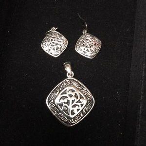 Lia Sophia pendant and earrings
